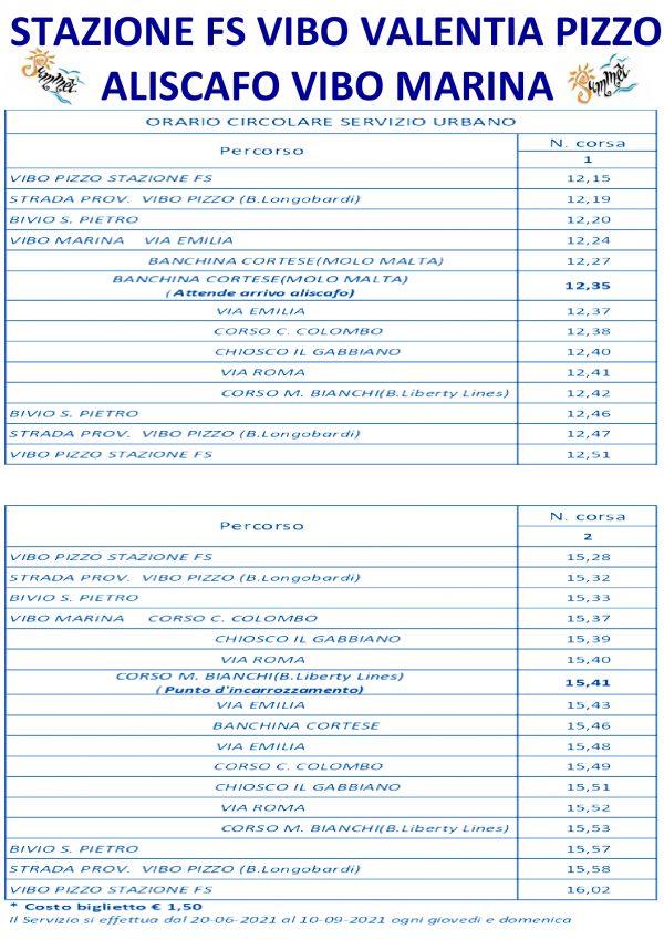 VIBOINBUS ORARI-COLLEGAMENTI-ALISCAFO